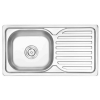Quality plating single bowl single drainboard kitchen sink price 75*40CM for sale