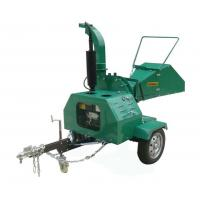 Quality Self Feeding Trailer Mounted Chipper , Diesel Engine 8 Wood Chipper for sale
