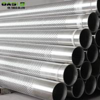"""Quality 9 5 / 8 """" Perforated Exhaust Tubing , Stainless Steel 100mm Perforated Pipe for sale"""