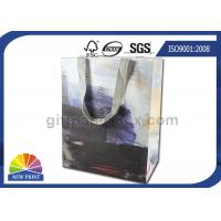 Buy Personalized 190g White Kraft Paper Shopping Bags Full Color Printing SGS Approval at wholesale prices
