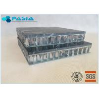 China Fuding Black Basalt Type Honeycomb Stone Panels With Edge Open Flamed Surface on sale