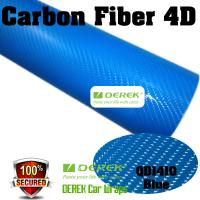 Quality 4D Glossy & Shiney Carbon Fiber Vinyl Wrapping Films--Blue for sale