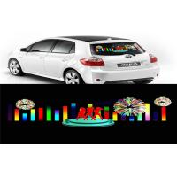 Quality Car Music Rhythm Lamp , Advertising Poster EL Car Sticker With Low Power Consumption for sale