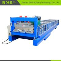 China 0.8-1.5mm Floor Deck Roll Forming Machine , Metal Building Material Roll Former on sale
