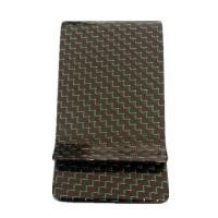 China Green colored Carbon Fiber Money Clip Wallet on sale