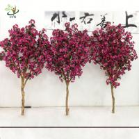 Best UVG 2m Rose pink artificial cherry tree branches with silk blossoms for garden decoration wholesale