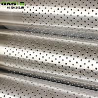 Quality High Overall Strength Perforated Stainless Steel Pipe For Water Well Drilling for sale
