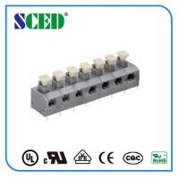 Quality 7.62mm Center Spacing Screwless Terminal Block Grey Spring Brass for sale
