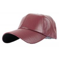 Quality Fashion Pu Leather Baseball Hat , Korean Version Cool Hip Hop Baseball Caps for sale