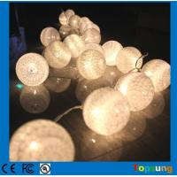 Best battery operated christmas 10leds cotton balls led string lights wholesale