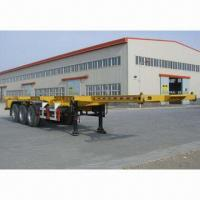 China 3-axle Skeletal Container Semi-trailer with 30T Payload on sale