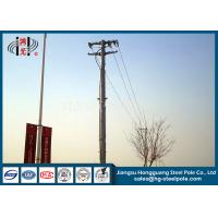 Best Anti Corrosive 13.8kv 35ft Transmission Line Steel Tubular Pole With Flange Connection wholesale