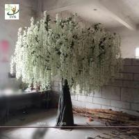 Buy cheap UVG 10ft White indoor artificial wisteria tree with silk blossoms for wedding decoration from wholesalers