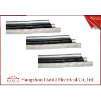 Quality Grey / Black Galvanized SteelFlexible Electrical Conduit with PVC Coated for sale