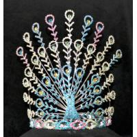 China peacock pageant crowns for valentines day pageant crowns and rhinestone crowns tiaras wholesale crowns supplier china on sale