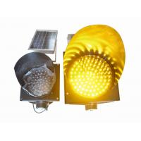 China 200mm Waterproof Solar LED Traffic Light Durable , Yellow Solar LED Warning Light on sale