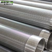 Quality Metal Fiber Screen Pipe In Borehole , Welding End Connection Wedge Wire Filter for sale