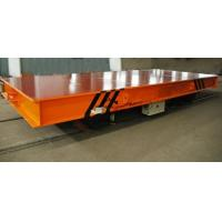 Quality Hydraulic Lifting Material Electric Transfer Cart Trolley With Gear Reducer for sale