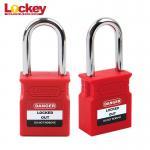 Quality Upgrade 38mm Steel Shackle Long Shaft Padlock OEM Nylon Body Loto Locks for sale