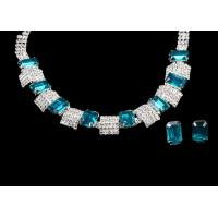 Female succinct and stylish Crystal Bridal Necklace Earring Jewelry Sets For Wedding NG28