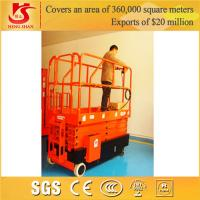 Quality 4 wheels mobile scissor lift with Factory price 3.5m-12m for sale
