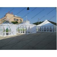 Quality High Peak Luxury Transparent Marquee Tent Optional Size With Lining And Curtains for sale