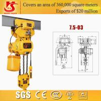 Quality Electric chain hoist/small electric pulley hoist/electric 7.5t trible chain hoist for sale
