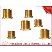 Quality Brass Male Bush Brass Electrical Wiring Accessories Long Hexagon Head GI Thread for sale