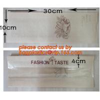 Quality OEM High Quality Enviromental Clear Window Bread Toast Paper Bags, Brown Kraft Sharp Bottom Food Safe Snack Paper Bags w for sale