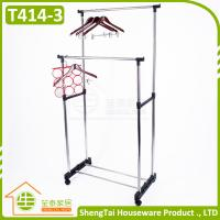 Best Multi Function Stainless Steel Garment Storage Cloth Drying Shelf With Wheels wholesale
