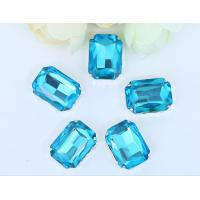 Best point back rhinestone claw setting sew on chaton Aquamarine 13*18mm wholesale