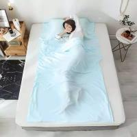 Quality Anti - Bacteria Sleeping Bag Inner Sheet Environmental Protection For Adults for sale