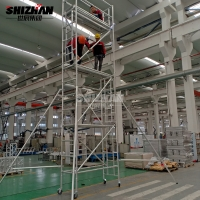 Quality Easy Install Mobile Aluminum Scaffolding Tower 3m 12m Height for sale