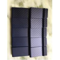 China customized 3K carbon fiber money clip wallet, blue colored on sale