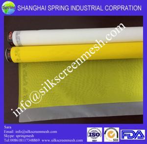 China 120 mesh silk screen(7T-200T)/ white custom 100%  polyester t shirt silk screen printing mesh on sale