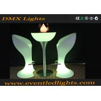 Best CE & ROHS Approved illuminated plastic led cocktail table for party , events wholesale