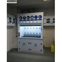 China Clear Window Laboratory Fume Hood , PVC Ducted Chemistry Vent Hood Safe Operation on sale
