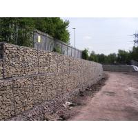 Quality Simple Installation Gabion Wall Baskets 80 X 100M Wire Dia 3.05mm / 3.8mm / 2.2mm for sale