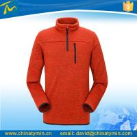 China 1/4 zipper customized soft overall polar fleece jacket on sale