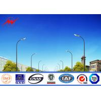 Quality 12M Polygonal Street Light Poles Single Arm Outdoor Square Highway Light Pole for sale
