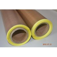 China PTFE/Teflon coated glass cloth adhesive tape with release paper on sale