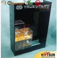 China Black Acrylic Wood Display Cabinets For Presenting Cosmetic / Cigarette on sale