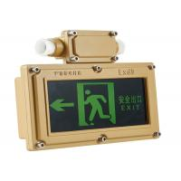 Quality Stainless Steel Exit Sign With Emergency Lights Anti Corrosive Hanging Type for sale