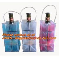 Quality Promotional PVC cooler bag for wine, Custom Refillable Travel Plastic Pvc Bottle Ice Tote Red Wine Cooler Bag As Gift Wh for sale