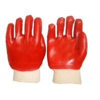Quality Fashion Design PVC Coated Gloves Cotton Interlock Lining High Durability for sale