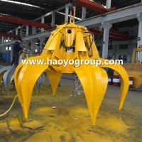 Quality 1.5m3 Electro hydraulic orange peel grab for steel scrap handling for sale