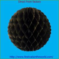 Best china decoration honeycomb ball for party black wholesale