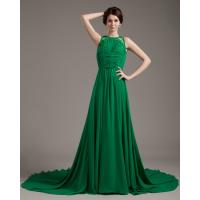 China unique Sleeveless girls Evening Party Dresses / prom dresses with long trains on sale