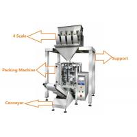 Quality 1KG Sugar / 1KG Rice Grain Packing Machine With 4 Linear Weigher for sale