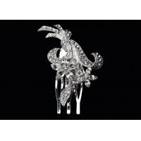 Buy cheap antique crystal, Rhinestone bridal silver jewelry decorative hair comb for women HC025 from wholesalers